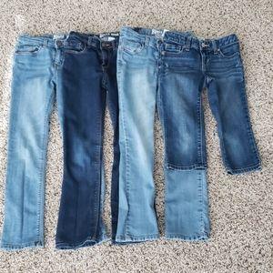 4 Pair Oshkosh Old Navy Skinny Bootcut Jean's- 8